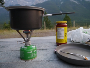 Outdoor Küche in Kanada-Alberta