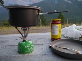 Outdoor Küche in Kanada-Alberta