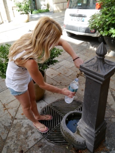 Wasser auffüllen